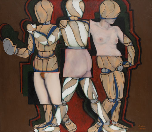 Three graces oil by Victor Gordon