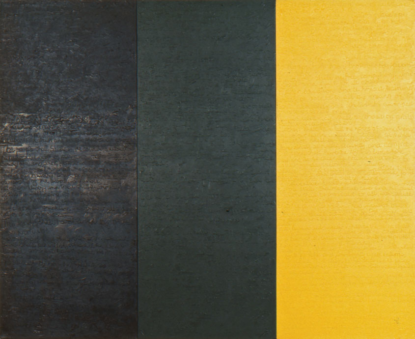 Freedom Charter/African National Congress Flag 1990 Acrylic on three joined canvasses 180 x 225 cm