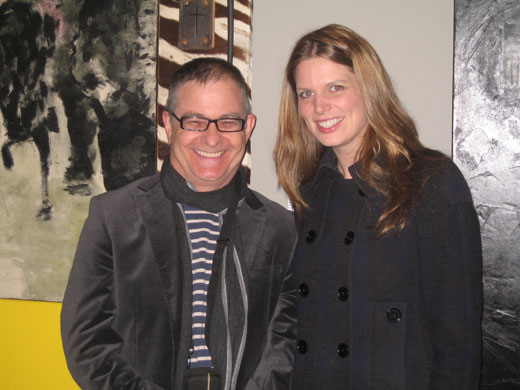 Victor Gordon with  Kate Ellis at the opening of Home and Away