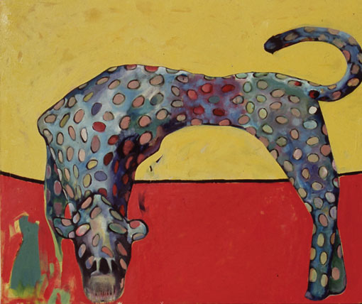 Leopard oil on canvas by Victor Gordon