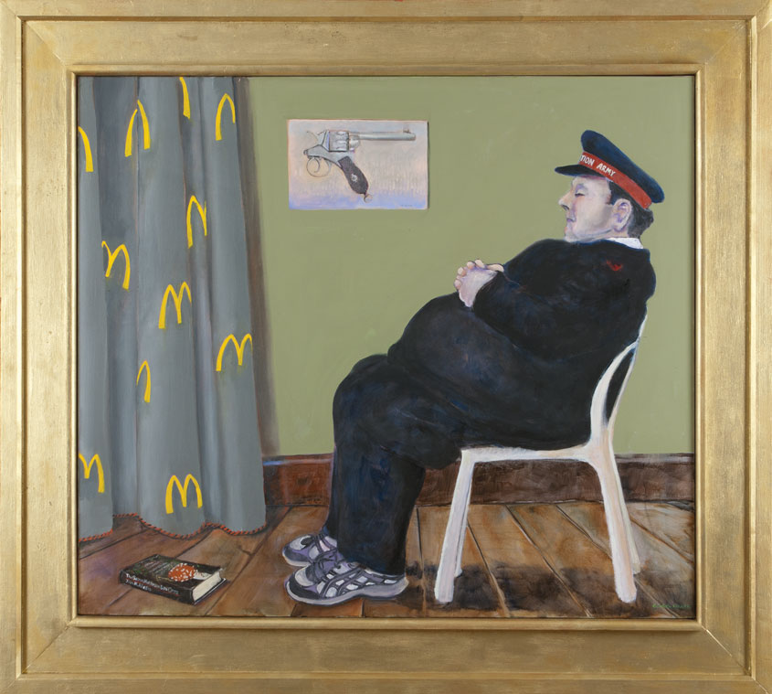 Oil based on Whistler's mother by Victor Gordon