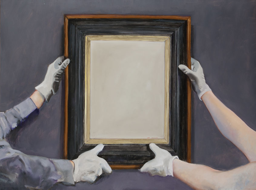 Painting about museum acquisitions of art