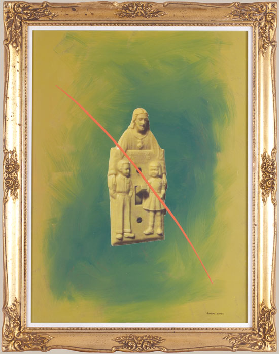 Collage of religious merchandise by Victor Gordon
