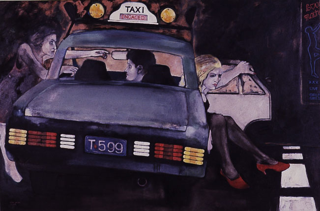 Taxi series by Victor Gordon, Oil on canvas 910 x1370 mm