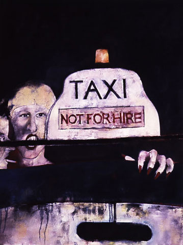 TAXI, 1989. Oil on canvas taxi series by Victor Gordon