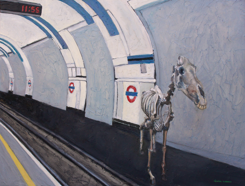 Painting of Marengo at Waterloo station