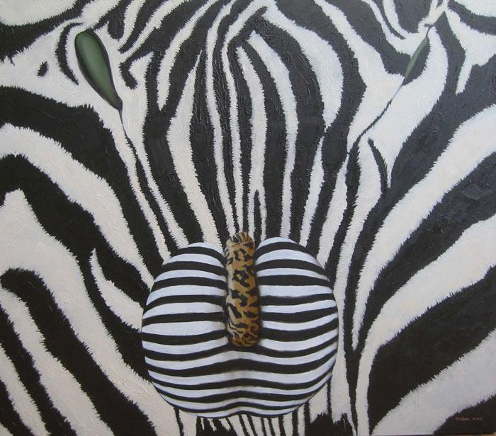 Zebra & leopard painting